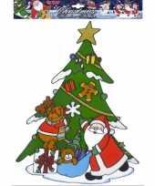 Groothandel kerst raamsticker kerstman en rendier speelgoed