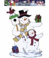 Groothandel kerst raamsticker sneeuwpop speelgoed
