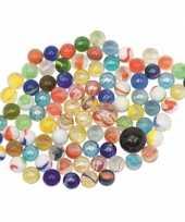 Groothandel knikkers gekleurd in netje 88 stuks speelgoed