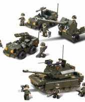 Groothandel leger soldaten speelgoed set van sluban 3x army voertuigen
