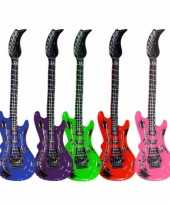 Groothandel opblaas elektrische gitaar blauw speelgoed