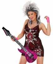 Groothandel opblaas gitaar met roze zebra print speelgoed