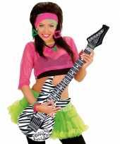 Groothandel opblaas gitaar met zebra print speelgoed