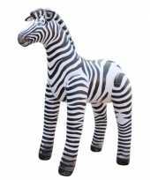 Groothandel opblaas zebra zwart wit gestreept 81 cm speelgoed