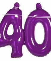 Groothandel opblaasbare cijfers 40 paars speelgoed