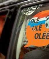 Groothandel orange autoraam sticker voetbal speelgoed