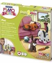 Groothandel oven verhardende klei pakket huisdier speelgoed