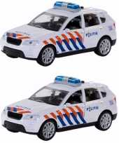 Groothandel pakket van 4x stuks speelgoed politie auto met sirene 12 cm