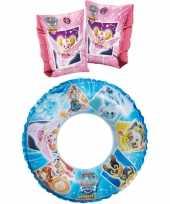 Groothandel paw patrol zwembad speelgoed set zwemband en roze zwemmouwtjes 3 6 jaar