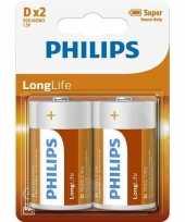 Groothandel phillips long life batterijen r20 1 5 volt 2 stuks speelgoed