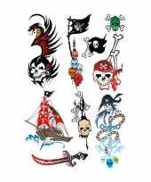 Groothandel piraten tattoeages set van 9x stuks speelgoed
