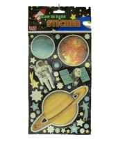 Groothandel planeten stickers glow in the dark speelgoed