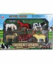 Groothandel plastic boerderij dieren 6 delig speelgoed 10067510