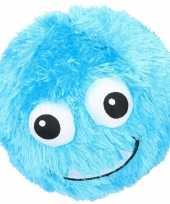 Groothandel pluche bal blauw met gezicht 23 cm speelgoed