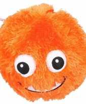 Groothandel pluche bal oranje met gezicht 23 cm speelgoed