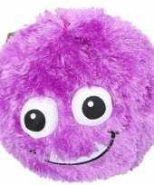 Groothandel pluche bal paars met gezicht 23 cm speelgoed