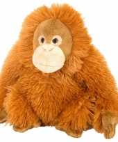Groothandel pluche knuffel knuffeldier orang utan oranje 20 cm speelgoed