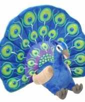 Groothandel pluche pauw grote dierenknuffel 66 cm speelgoed