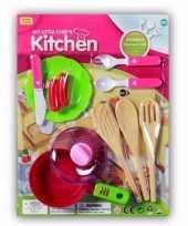 Groothandel poppen speelgoed keuken accessoires 10 delig