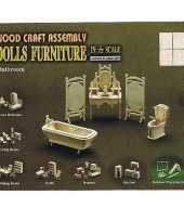 Groothandel poppenhuis meubels voor badkamer speelgoed