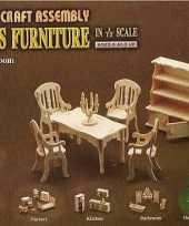 Groothandel poppenhuis meubels voor de eetkamer speelgoed