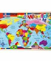 Groothandel puzzel wereldkaart 30 x 45 cm speelgoed