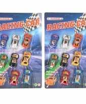 Groothandel race speelgoed auto setje van 8 stuks