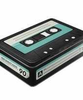 Groothandel retro cassetteband bewaarblik plat 23 cm speelgoed