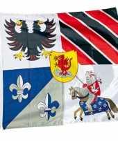 Groothandel ridder thema vlaggen 100 x 95 cm speelgoed