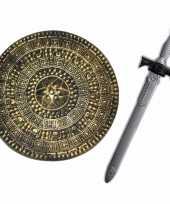 Groothandel ridders speelgoed wapens set schild met zwaard van 65 cm