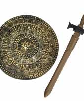 Groothandel ridders verkleed wapens set schild met zwaard van 65 cm speelgoed 10282510