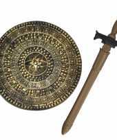 Groothandel ridders verkleed wapens set schild met zwaard van 65 cm speelgoed
