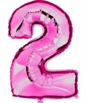 Groothandel roze ballon cijfer 2 speelgoed