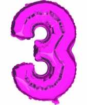 Groothandel roze ballon cijfer 3 speelgoed