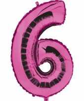 Groothandel roze ballon cijfer 6 speelgoed