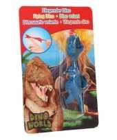 Groothandel rubberen blauwe speelgoed dino world vingerpoppetje t rex