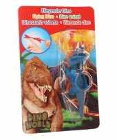 Groothandel rubberen blauwe speelgoed dino world vingerpoppetje triceratops