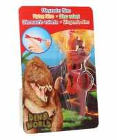 Groothandel rubberen rode speelgoed dino world vingerpoppetje triceratops
