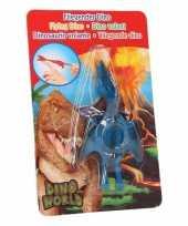 Groothandel rubberen speelgoed dino world blauwe vingerpoppetje pterosauri rs