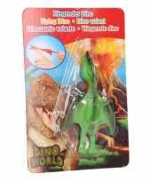 Groothandel rubberen speelgoed dino world groene vingerpoppetje pterosauri rs