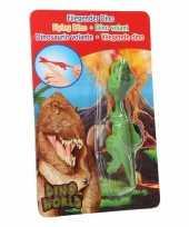 Groothandel rubberen speelgoed groene dino world vingerpoppetje t rex
