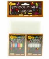 Groothandel schoolbord krijtjes met wisser speelgoed