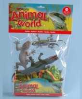 Groothandel set van 6 speelgoed reptielen