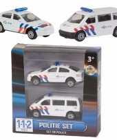 Groothandel setje van 2 speelgoed politiewagens