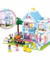 Groothandel sluban familie huis bouwstenen set speelgoed
