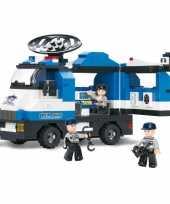 Groothandel sluban mobiele politiepost bouwstenen set speelgoed