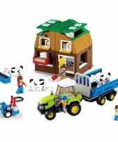 Groothandel sluban vrijstaande boerderij bouwstenen set speelgoed