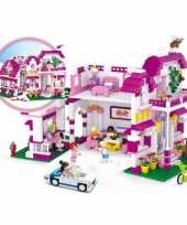 Groothandel sluban vrijstaande villa bouwstenen set speelgoed