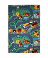 Groothandel speel tapijt dorp met wegen 100 x 165 cm speelgoed