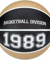 Groothandel speelgoed basketbal beige zwart 23 cm
